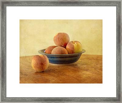 Fresh Peaches Framed Print
