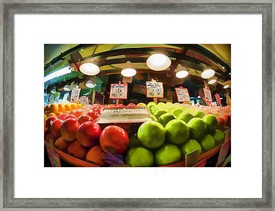 Fresh Pike Place Apples Framed Print