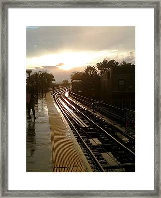 Fresh Pond Rd Station Framed Print by Mieczyslaw Rudek Mietko