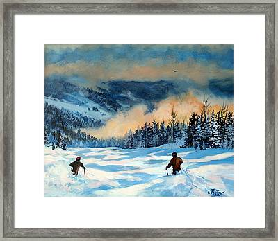 Fresh Powder Framed Print by W  Scott Fenton