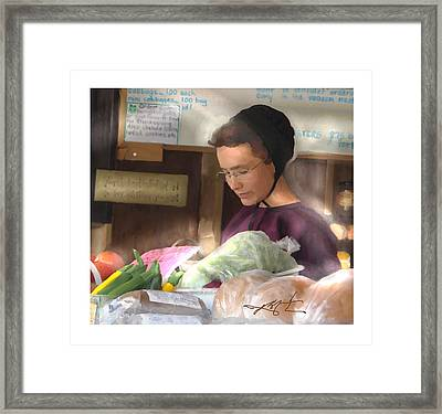 Framed Print featuring the painting Fresh Produce For Sale by Bob Salo