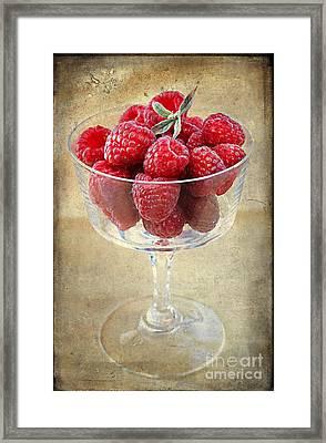 Fresh Raspberries Framed Print by Darren Fisher