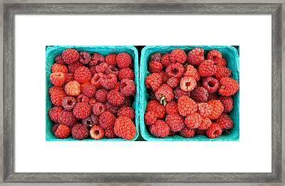 Fresh Raspberries Framed Print