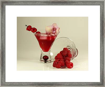 Fresh Raspberry Cosmos Delight Framed Print by Inspired Nature Photography Fine Art Photography