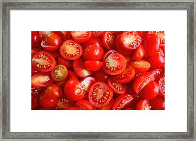 Fresh Red Tomatoes Framed Print by Amanda Stadther
