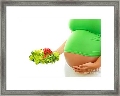 Fresh Salad For Pregnant Woman Framed Print