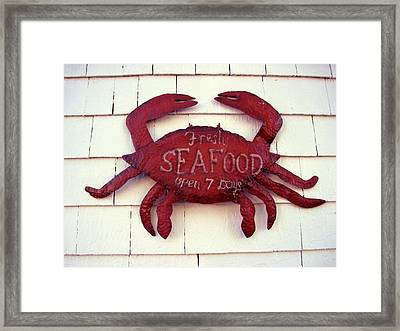 Fresh Seafood Sign Boothbay Harbor Framed Print