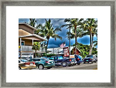 Framed Print featuring the photograph Fresh Shrimp by Timothy Lowry