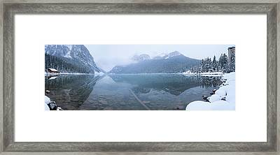 Fresh Snow At Lake Louise, Banff Framed Print by Panoramic Images
