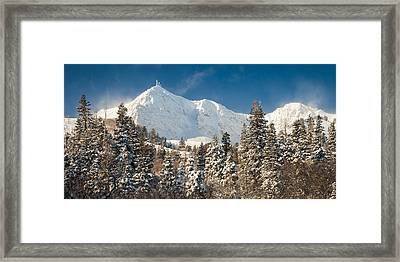 Fresh Snow On Mount Ogden Framed Print by Rory Wallwork