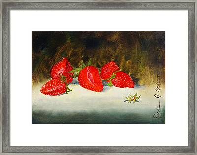Fresh Strawberries Framed Print