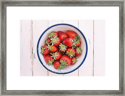 Fresh Strawberries  Framed Print by Viktor Pravdica