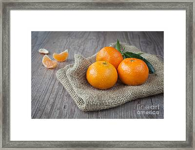 Fresh Tangerine Framed Print by Sabino Parente