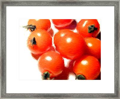 Fresh Tomatos Framed Print by Stefan Petrovici