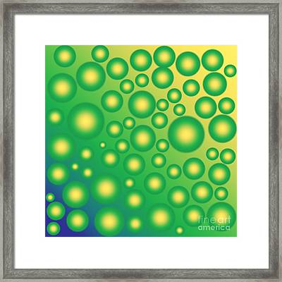 Fresh Tropical Bubbles Framed Print