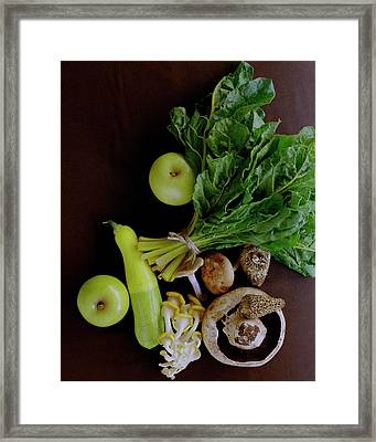 Fresh Vegetables And Fruit Framed Print by Romulo Yanes
