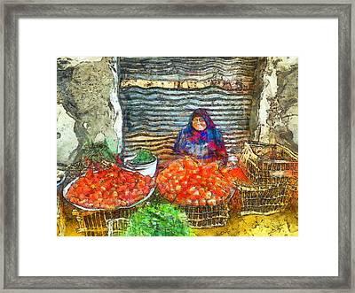 Fresh Vegetables Framed Print by George Rossidis