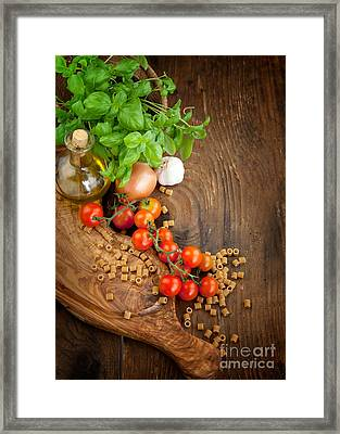 Fresh Vegetables Framed Print by Mythja  Photography