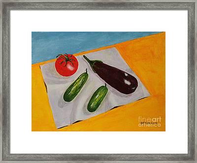 Fresh Vegies Framed Print by Melvin Turner