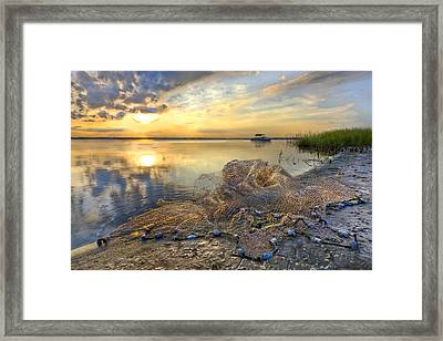 Fresh Water Framed Print by Debra and Dave Vanderlaan