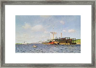 Fresh Wind On The Volga Framed Print by Isaak Ilyich Levitan