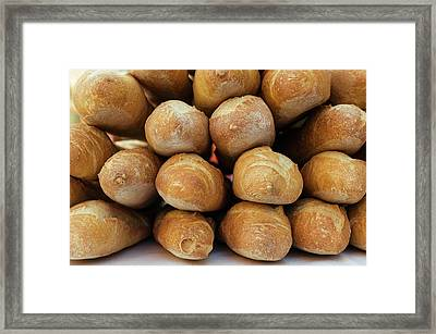 Freshly Baked Baguettes For Sale Framed Print by Panoramic Images