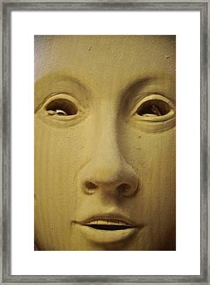 Freshly Carved Face Framed Print