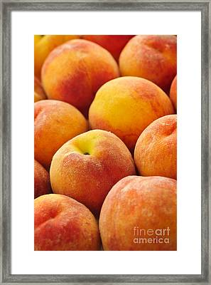 Freshness Of Peaches Framed Print