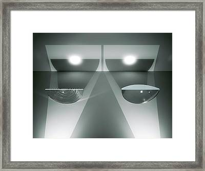 Fresnel And Plano-convex Lenses Framed Print by David Parker