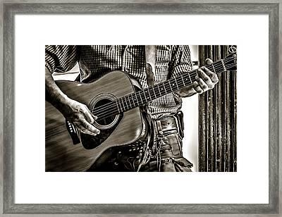 Frettin' Framed Print