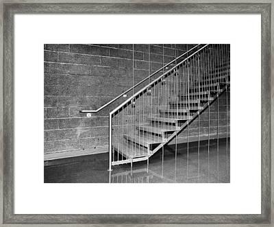 Frey Stairs North Shore Salton Sea Framed Print by William Dey