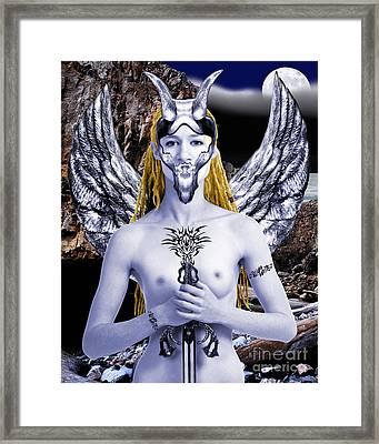Freya Viking Warrior Framed Print by Keith Dillon