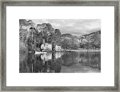 Friars Crag Black And White Framed Print by Linsey Williams