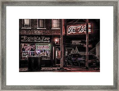Framed Print featuring the photograph Frick's Tap by Ray Congrove