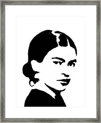 Frida Black And White Framed Print