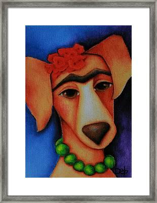 Frida Dog Framed Print