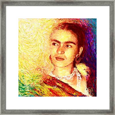 Frida In Color Of Joy Framed Print