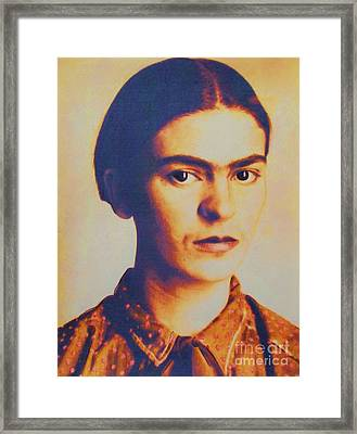 Frida In Sepia  3 Framed Print by Roberto Prusso