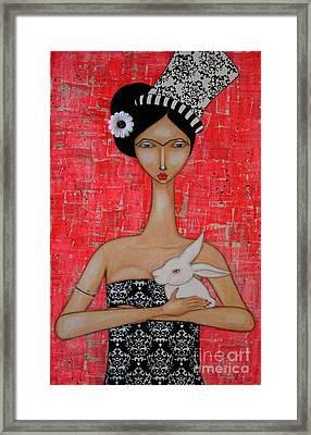 Frida In Wonderland Framed Print