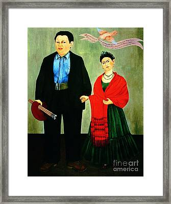Frida Kahlo And Diego Rivera Framed Print by Pg Reproductions