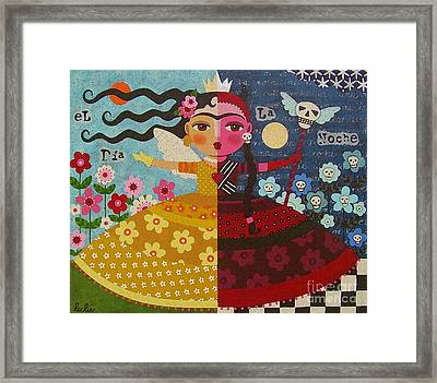 Frida Kahlo Angel Devil Queen Framed Print by LuLu Mypinkturtle