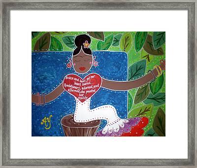 Frida Kahlo Framed Print by Angela Yarber