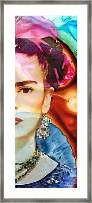 Frida Kahlo Art - Seeing Color Framed Print by Sharon Cummings