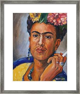 Frida Kahlo Framed Print by Becky Kim