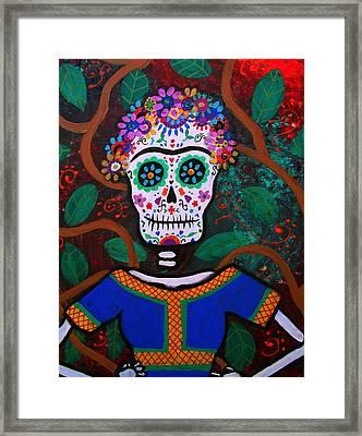 Frida Kahlo Dia De Los Muertos Framed Print