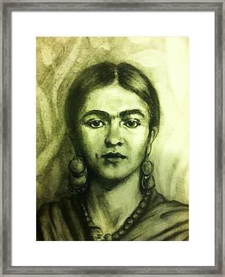 Frida Kahlo Framed Print by June Ponte