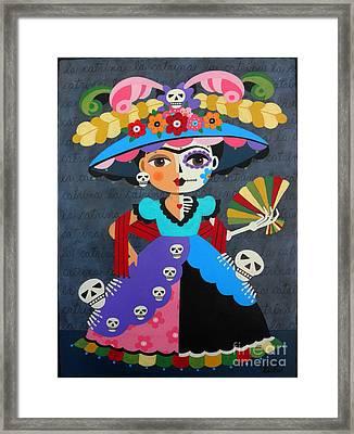 Frida Kahlo La Catrina Framed Print by LuLu Mypinkturtle