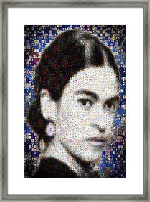 Frida Kahlo Mosaic Framed Print by Paula Ayers