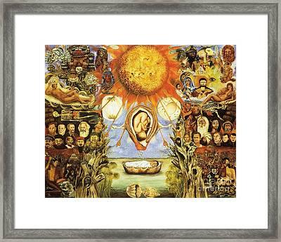 Frida Kahlo Moses Framed Print
