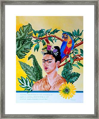 Frida Kahlo Framed Print by Thomas Gronowski